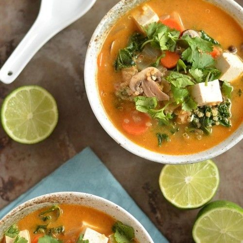 Thai Red Curry Quinoa Soup Recipe - Vegan. Cannot wait to try this ...
