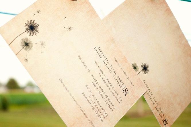 dandelion wedding invitation team awesome 39 s wedding pinterest