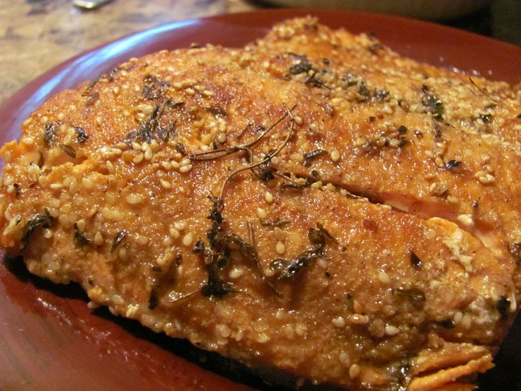 Paleo Sesame-Crusted Salmon | Healthy Eats-GAPS | Pinterest