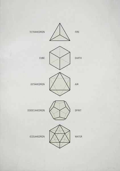 The Platonic Solids Art Print by Michael Paukner   Society6Platonic Solids Art