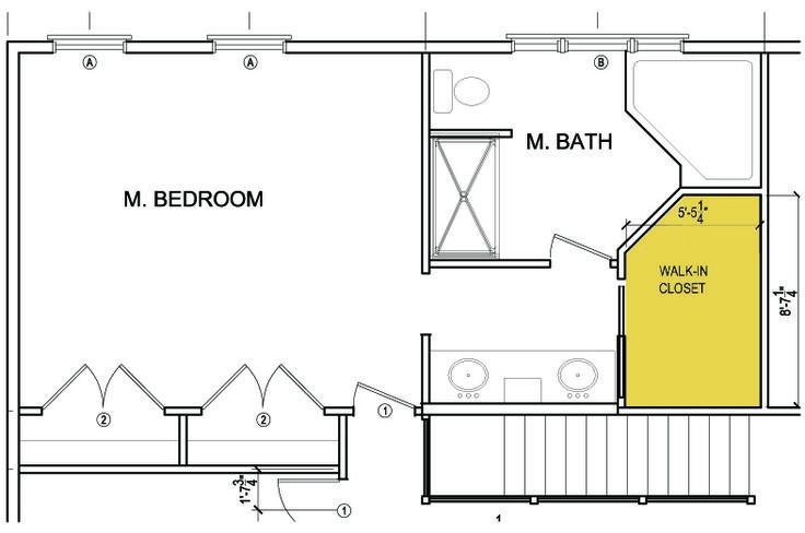 Walk in closet design bedrooms pinterest for Master bathroom and walk in closet floor plans
