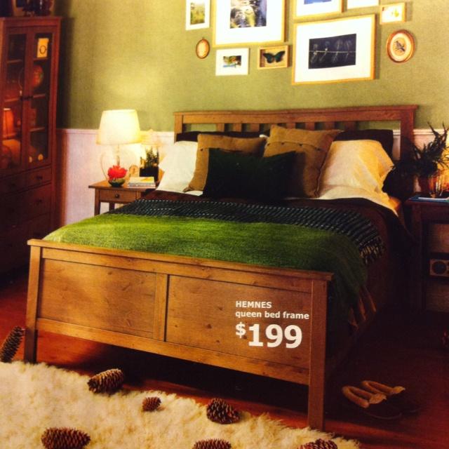 Ikea Utrusta Bleibt Nicht Oben ~ Ikea Hemnes queen bed frame Our new master bedroom bed in gray brown