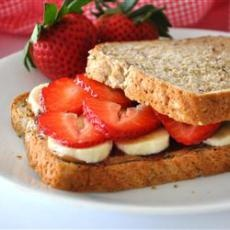 Deluxe Almond Butter Sandwiches | Easy Recipes | Pinterest