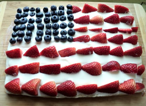 American Flag cake! We make this every year with angel food cake ...