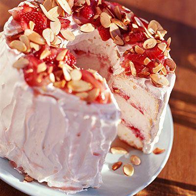 No-Cook Desserts: Strawberry Angel Cake | Food - Dessert | Pinterest