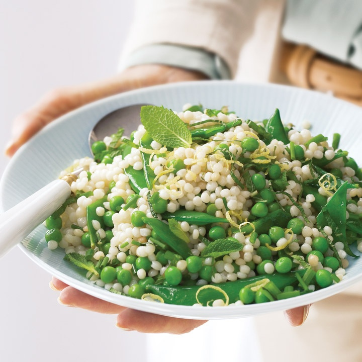 spring couscous salad with basil vinaigrette a simple spring salad ...