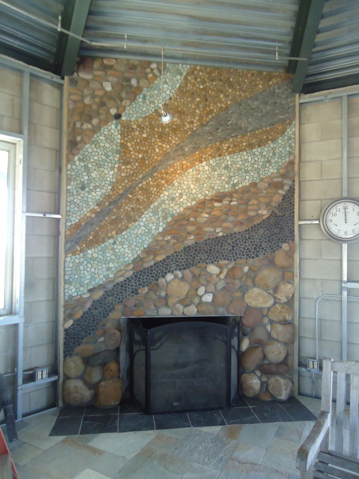 Mosaic Stone Fireplace, By ARC Design | ARC DESIGN ...