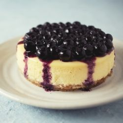 Cheese Cake with Blueberry Topping | Guilty Pleasure | Pinterest