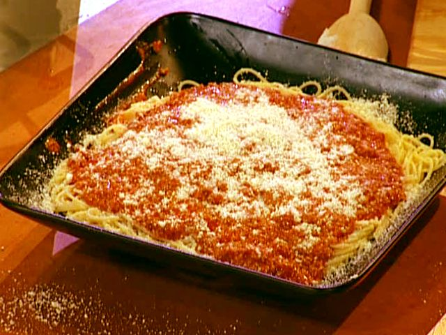 Spaghetti Bolognese- Emeril Lagasse. I made this tonight with some ...