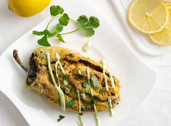 Cornmeal Crusted Crab Stuffed Chile Relleno - Que Rica Vida Mothers ...