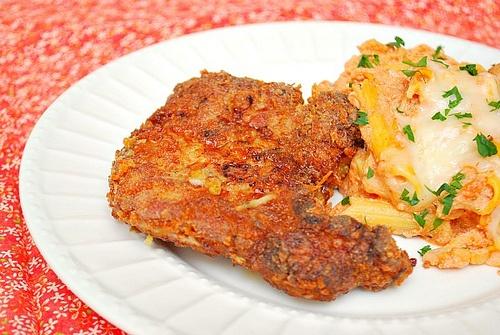 Italian Potato Breaded Pork Chops | Entrees | Pinterest