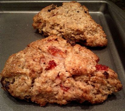 ... Low-Fat, Whole-Wheat Fresh Strawberry and Dark Chocolate Scones Recipe