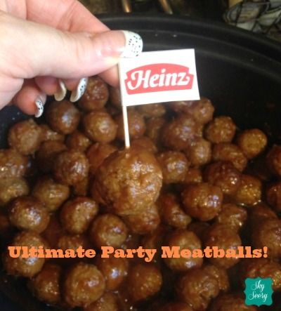 Ultimate Party Meatballs with Heinz! #sponsored