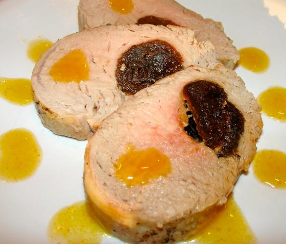 Plum-stuffed pork tenderloin with mango sauce @MysteryKitchen @Krista ...