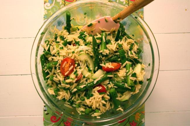Asparagus, Tomato and Orzo Salad | Yummy Salads | Pinterest
