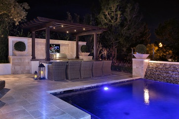 bar area with bbq and pergola | Backyard inspiration | Pinterest