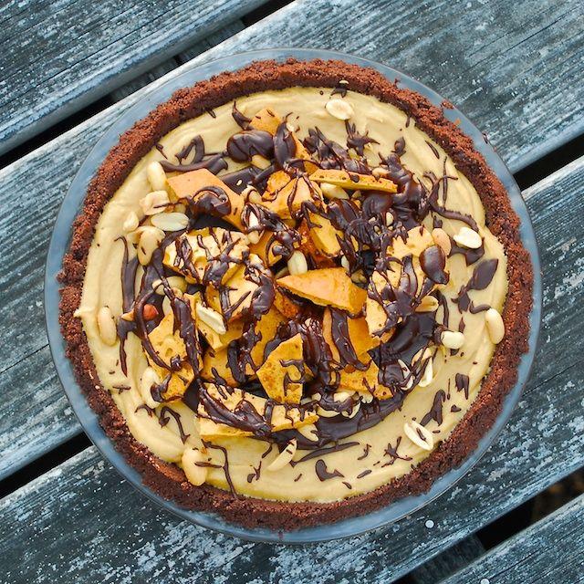 Peanut Butter Honeycomb Pie   Food   Pinterest