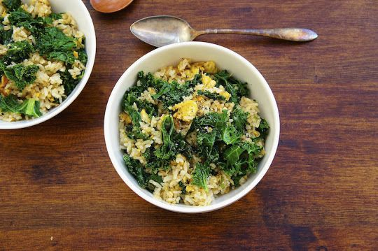 Seasaltwithfood: Kale Fried Rice. I would omit the egg and add a ...