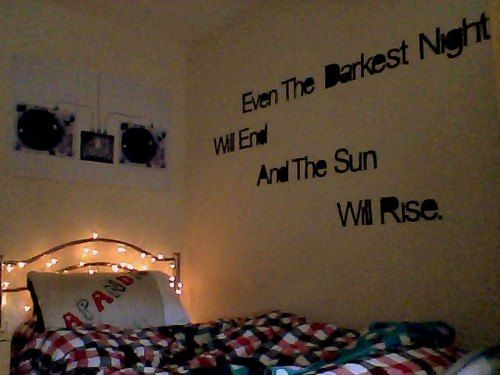 Wall quotes for bedroom roomspiration pinterest for Room decor ideas quotes