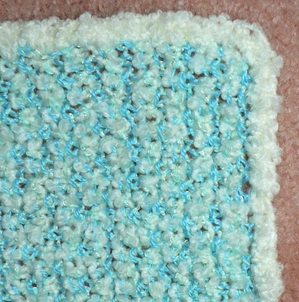 Knitting Blanket Stitch : Knit Seed Stitch Baby Blanket Easy Knitting Patterns Pinterest
