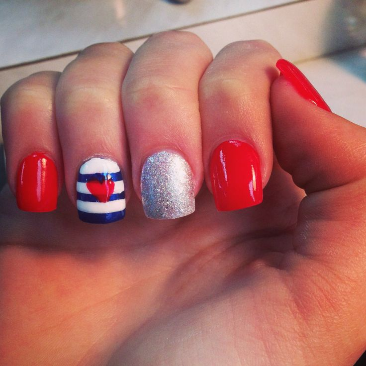 Nail designs with red white and blue red white blue nail designs cute red white and blue nail designs color view images prinsesfo Gallery