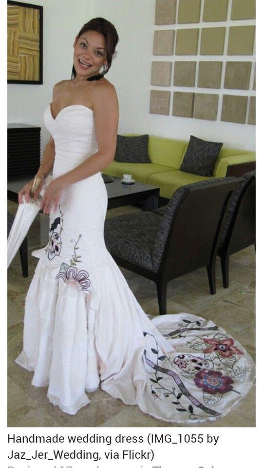 Skull wedding dress 15th anniversary 2016 pinterest for Sugar skull wedding dress