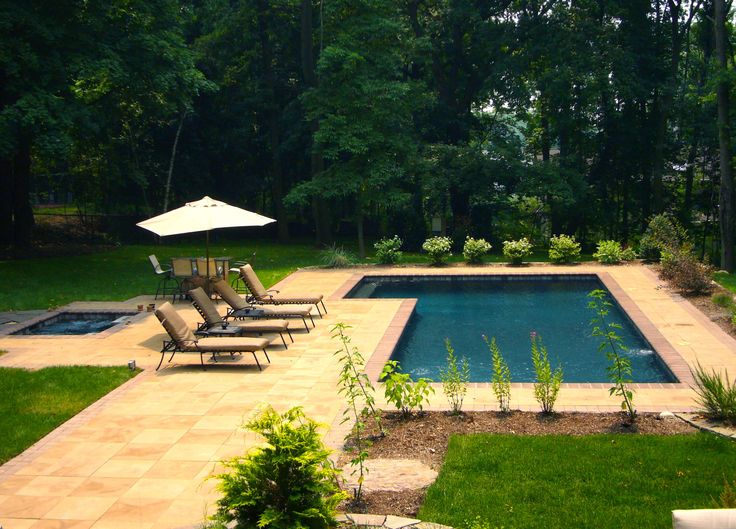 L Shaped Traditional Pool Pools Pinterest