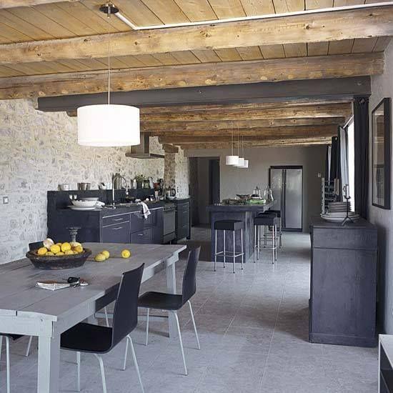French Industrial Kitchen Design: Industrial Rustic Kitchen