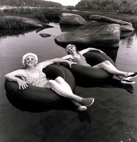 There's nothing like floating down a river in a good, old-fashion inner tube.  :-)
