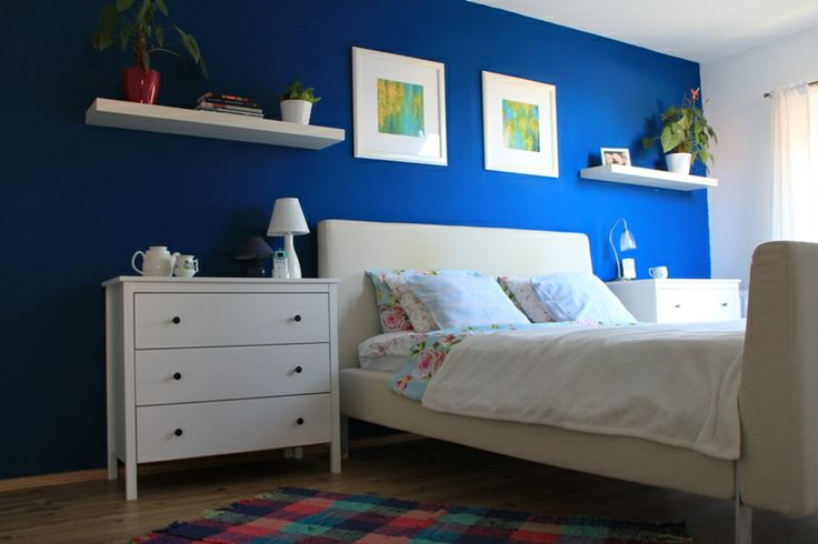 blue bedroom colorful spring