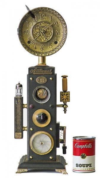 No 4825 steampunk mantle clock - Steampunk mantle clock ...