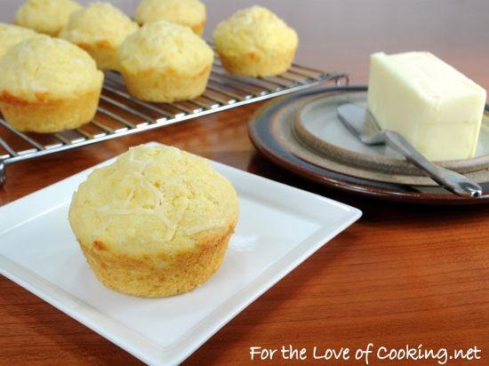 Parmesan-Corn Bread Muffins | Food & Recipes | Pinterest