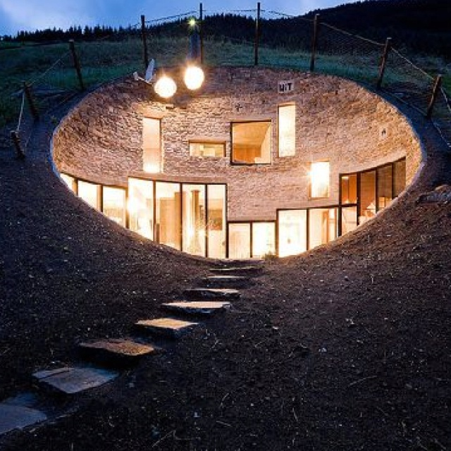 House Built Into A Hill Sweden In My Future Pinterest