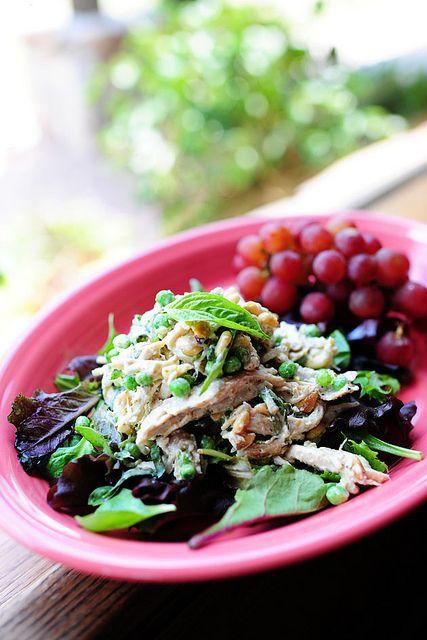 Lemon Basil Chicken Salad. I'm on a lemon basil kick right now!