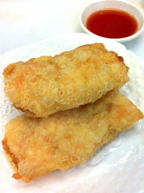 Bean curd prawn roll | MMMMMMMMMM.....Yum! | Pinterest