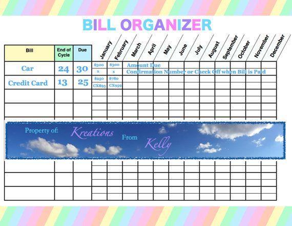 Bill+Payment+Organizer Bill Payment Organizer