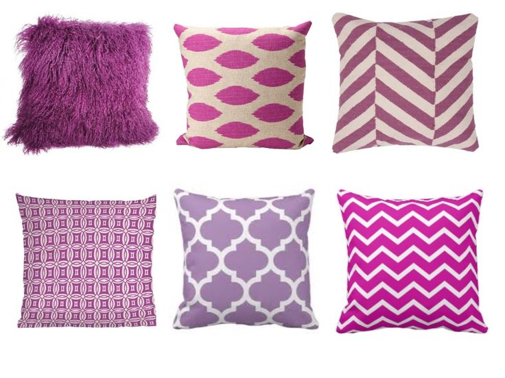 radiant orchid throw pillows