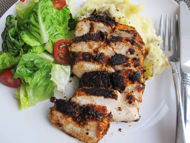 Blackened Chicken With Smashed Potatoes | Recipe