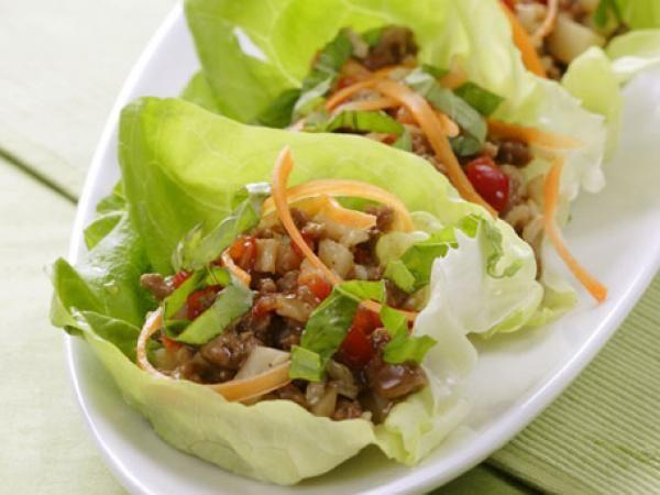 Five-Spice Turkey & Lettuce Wraps | KitchenDaily.com