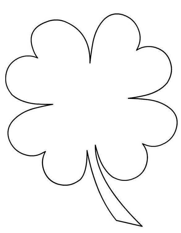 Three Leaf Clover Coloring Pages Three Leaf Clover Coloring Page