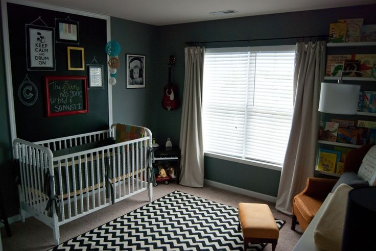 Chevron rug in nursery - #chevron #nurserydecor