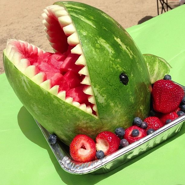 Sink your teeth into these shark themed snacks