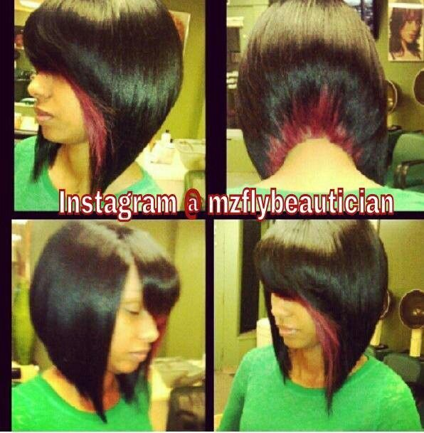Two Tone Bob Sew in Weave Hairstyles