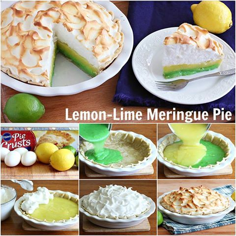 Lemon-Lime Meringue Pie. daringgourmet.com