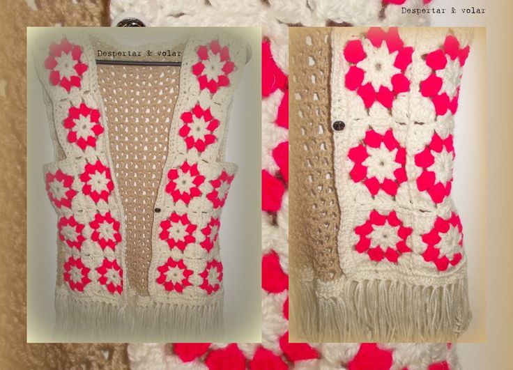 chaleco tejido al crochet + flecos | Tejidos con onda! | Pinterest