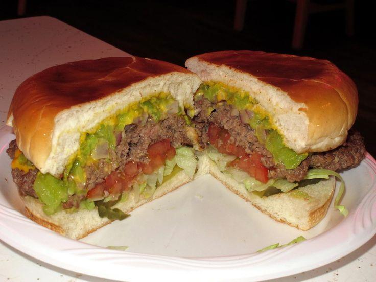 Manny's Buckhorn Tavern green chile cheeseburger