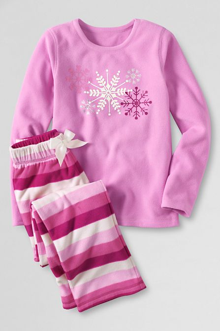 toddler girl s fleece pajama set