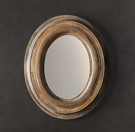 lovely restoration hardware oval mirror
