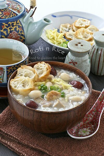 Turkey Rice Porridge with Peanuts and Scallops | Recipe