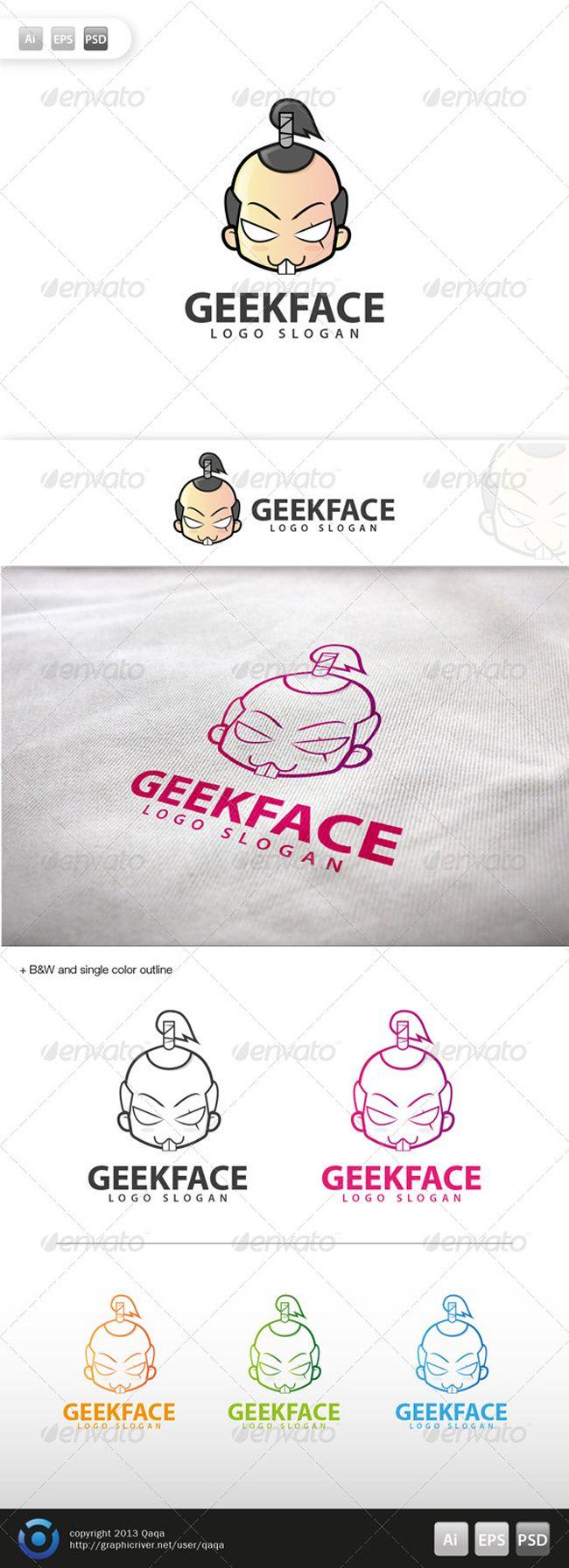 Geek Face Logo | My sense of Logos | Pinterest